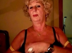 Gorgeous granny shows her amazing boobs on cam. See more at 747cams.com