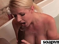 AMAZING body in a hot soapy massage 2
