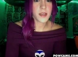 Teen With Small Tits And Purple Hair