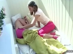 Sister Wake Up Step-Bro with Blowjob to get First Fuck