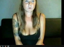 Tattooed girl with natural big boobs on 747cams.com