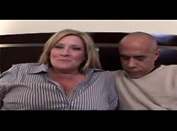 BBW Blonde Mom loves Interracial Dating BBC Video